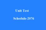 Unit Test Schedule – 2076